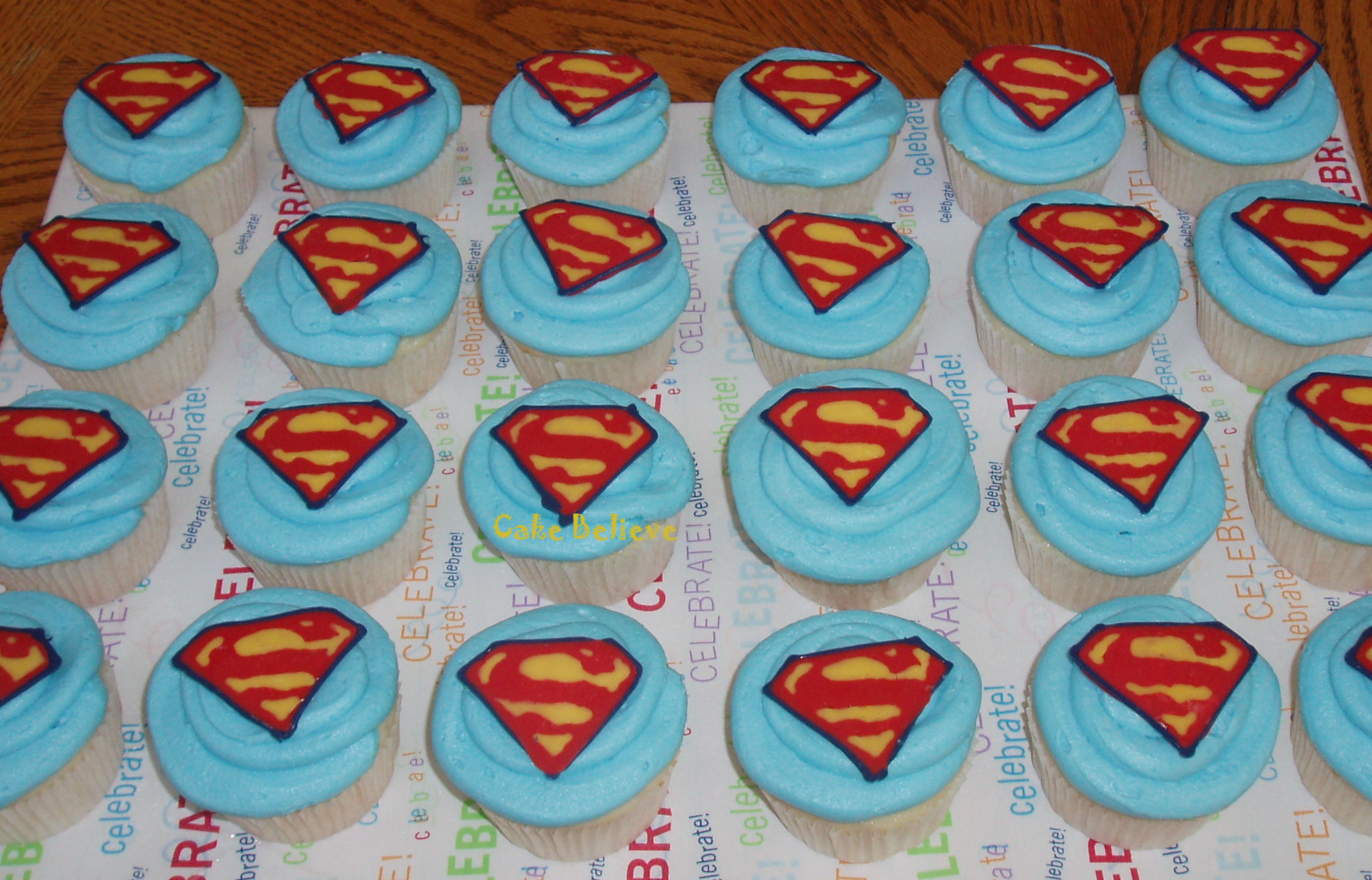 Superman Cupcakes Cakes and Cupcakes Mumbai