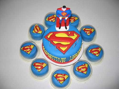 Superman Cupcakes Cakes And Cupcakes Mumbai