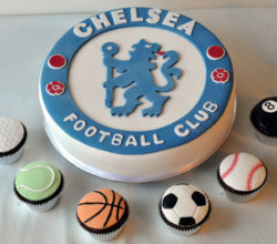 Football Teams, Jerseys Cakes and Cupcakes