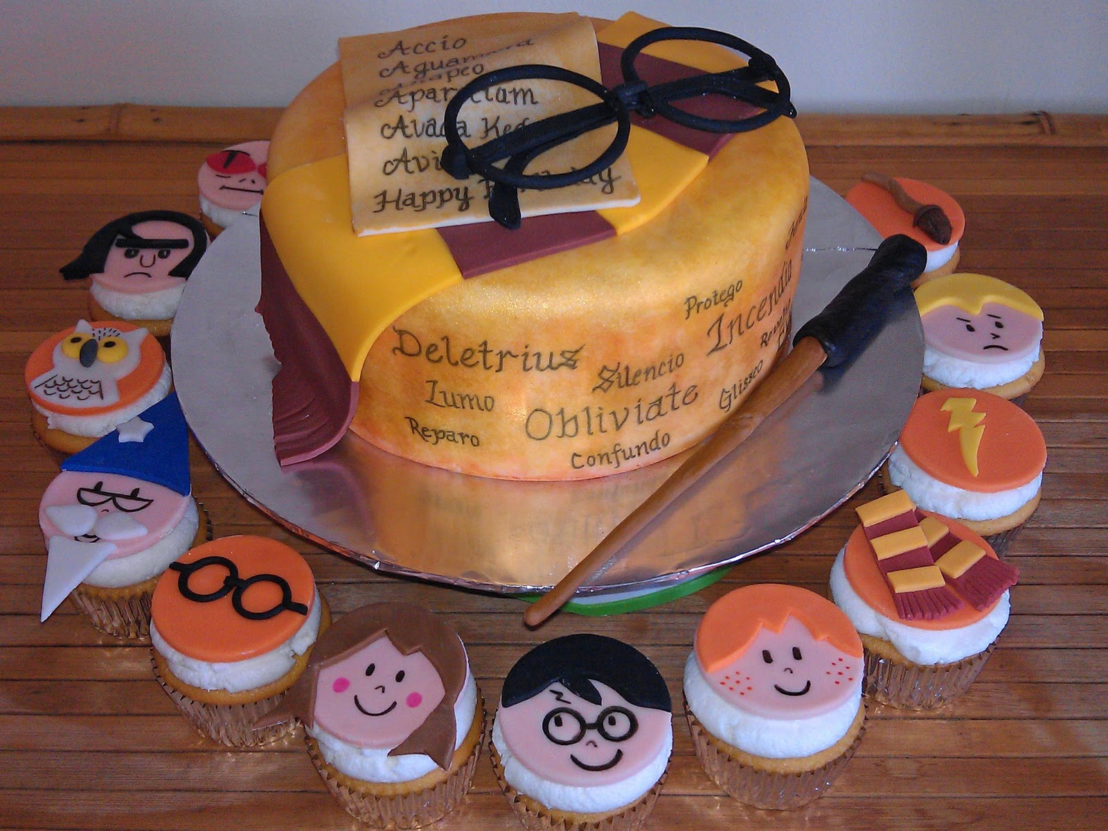 Harry Potter Cakes And Cupcakes Snitch Book Wand Scarf