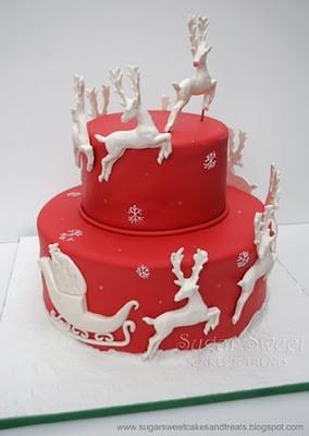christmas scene cakes
