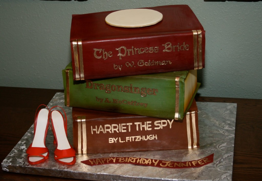 Cake Decorated Like Books : book cake