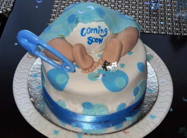 Images Of Newborn Baby Boy Cake : babyshower cakes for boys