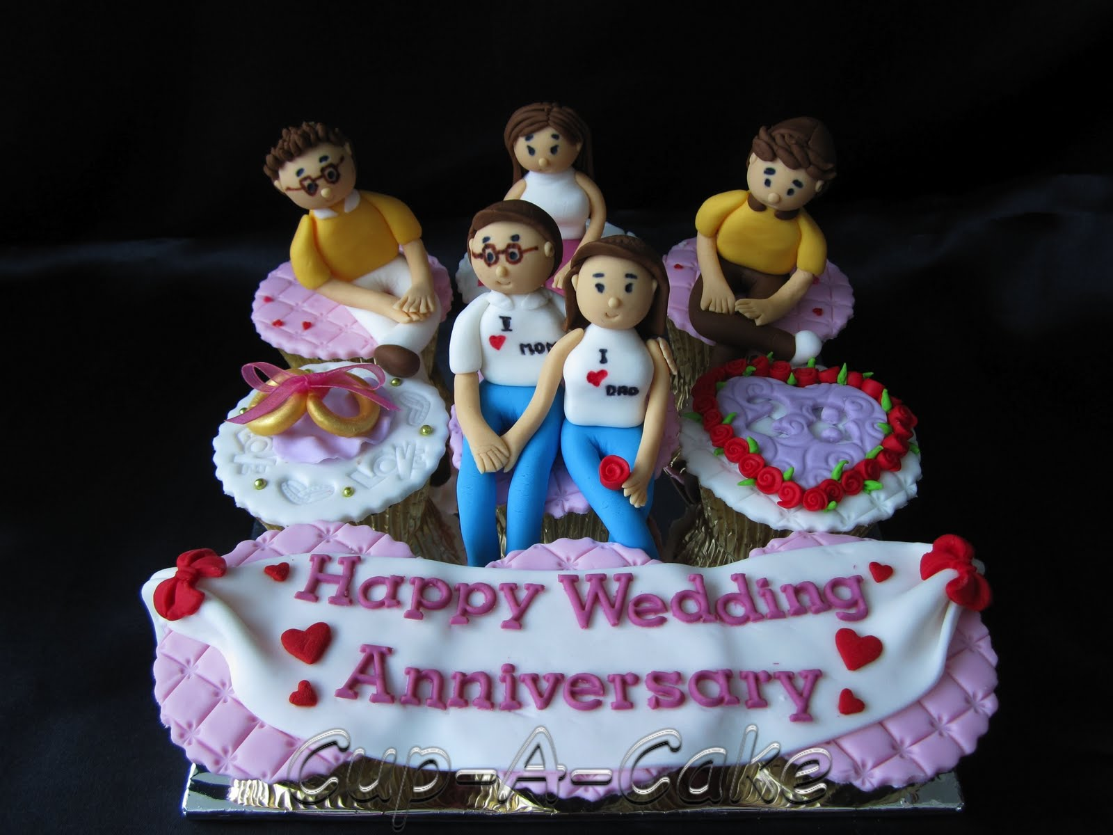 20th wedding anniversary cake ideas