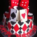 Playing Card, Poker, Casino Theme Cakes and Cupcakes