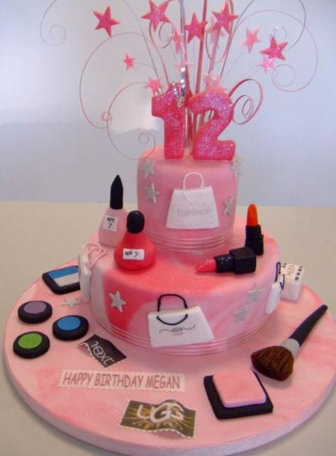 Shopaholic Born To Shop Theme Cakes And Cupcakes Cakes And - Birthday theme cakes