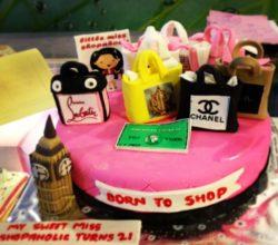 Shopaholic, Born to Shop Theme Cakes and Cupcakes