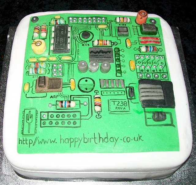Pcb motherboard technology theme cakes cupcakes mumbai 21