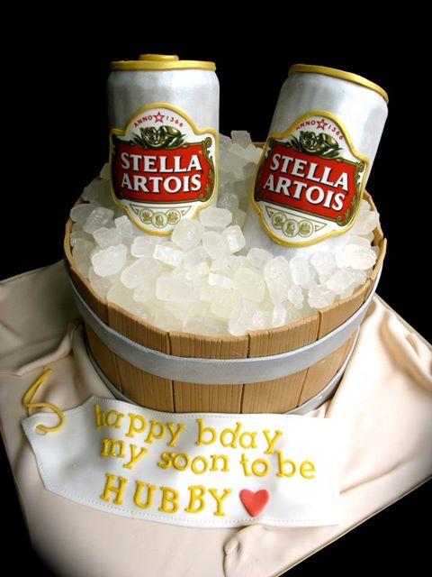 Beer Design Birthday Cake : stella-can-beer-cake - Cakes and Cupcakes Mumbai