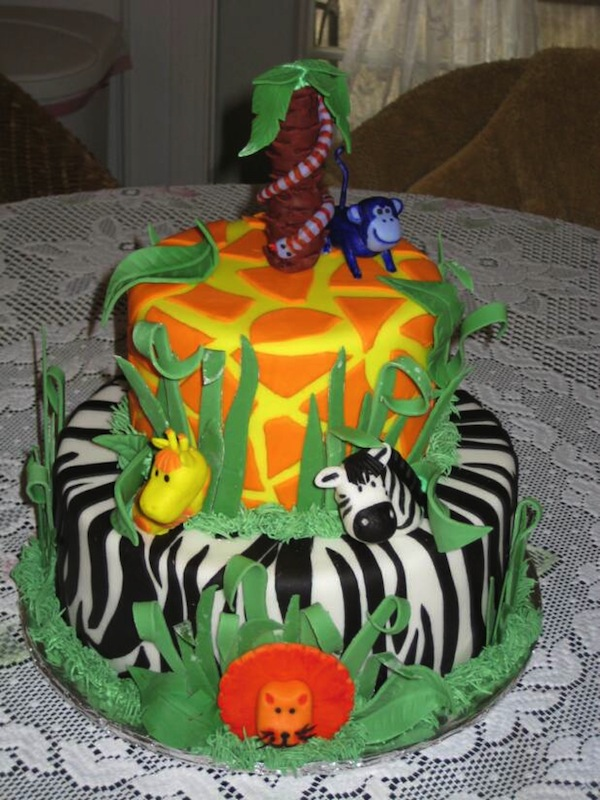Animal Jungle Safari Theme Kids Birthday Party Cakes And