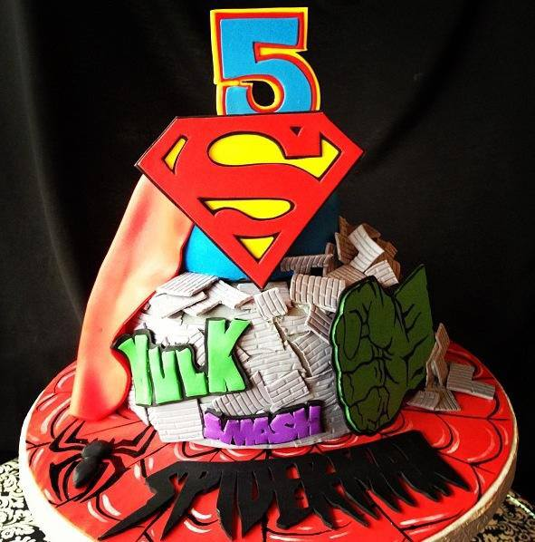 Superman Batman Hulk Spiderman Designer Cakes Cupcakes Mumbai 27