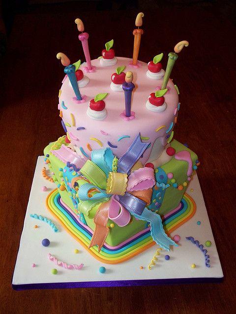 Торт для девочки на день рождения с фото