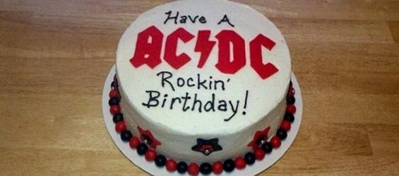 Ac Dcmusic Theme Customised Cakes Cupcakes Mumbai Buy