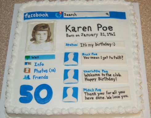 Facebook Profile Technology Theme Cakes Cupcakes Mumbai 27 Cakes